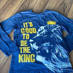 Children's place King lion long sleeve tee